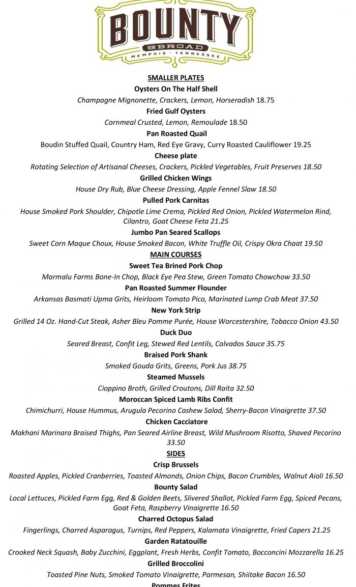Updated Dinner Menu 5-23-19 pdf